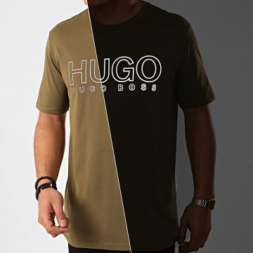 Hugo Boss - Tee Shirt Dolive U202 Réfléchissant 50425774 Vert Kaki