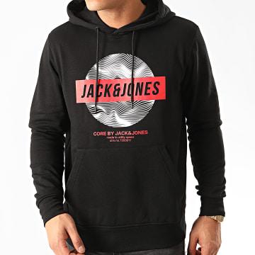Jack And Jones - Sweat Capuche Geek Noir