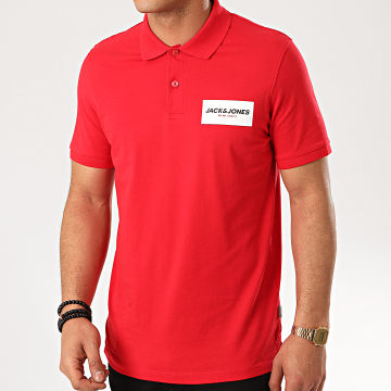 Jack And Jones - Polo Manches Courtes Waka Rouge