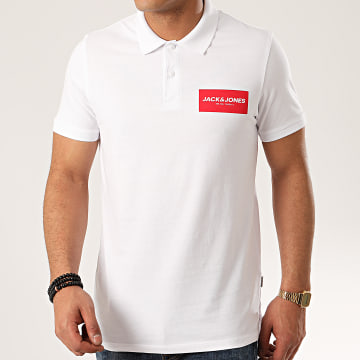 Jack And Jones - Polo Manches Courtes Waka Blanc