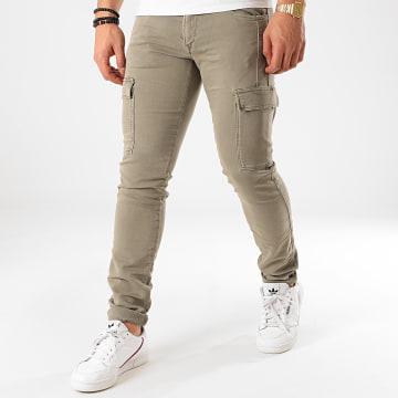 Le Temps Des Cerises - Pantalon Cargo Andrew Jogg Vert Kaki