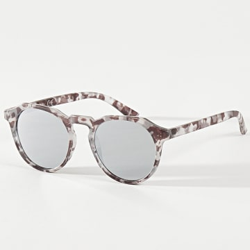 Jack And Jones - Lunettes De Soleil Maverick Blanc Marron