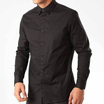 Solid - Chemise Manches Longues Tyler Noir