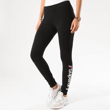 Superdry - Legging Femme Logo W7010094A Noir