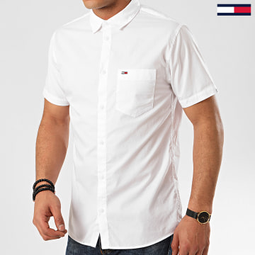 Tommy Jeans - Chemise Manches Courtes Poplin 7923 Blanc