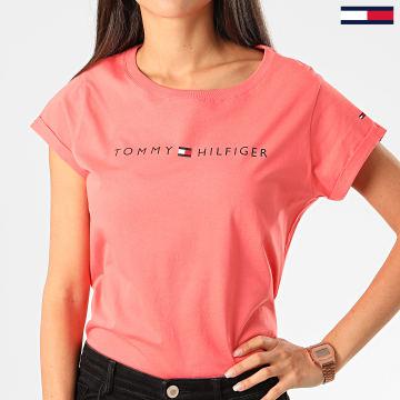Tommy Hilfiger - Tee Shirt Femme RN Logo 1618 Corail