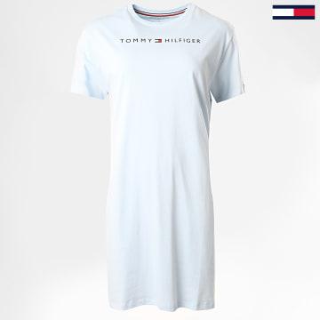 Tommy Hilfiger - Robe Tee Shirt Femme RN Half Sleeve 1639 Bleu Ciel