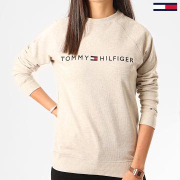 Tommy Hilfiger - Sweat Crewneck Femme CN Track 2031 Gris Chiné