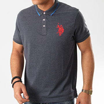 US Polo ASSN - Polo Manches Courtes N3 Sunwear Bleu Foncé Chiné