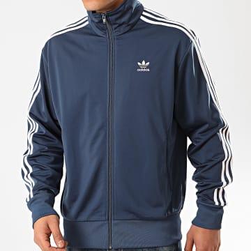 Adidas Originals - Veste Zippée A Bandes Firebird FM3810 Bleu Marine