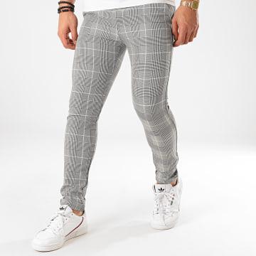 Classic Series - Pantalon Carreaux M-3303 Noir Blanc