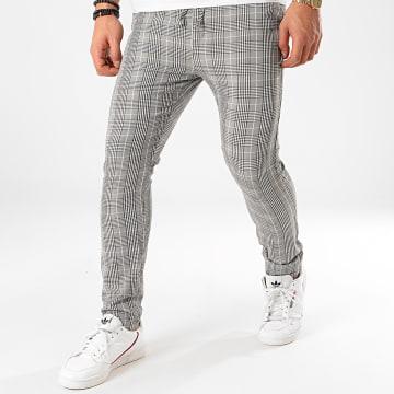 Classic Series - Pantalon Carreaux M-3304 Noir Blanc