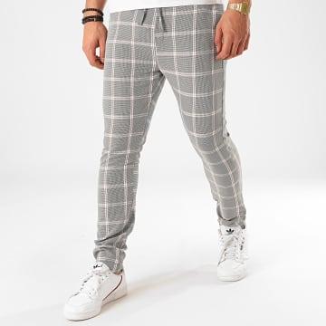 Classic Series - Pantalon Carreaux M-3305 Noir Blanc