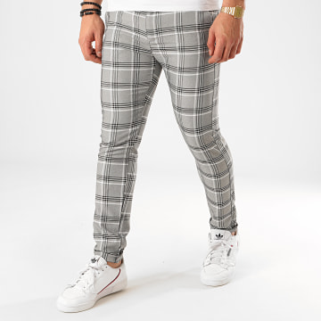 Classic Series - Pantalon Carreaux M-3306 Gris Chiné