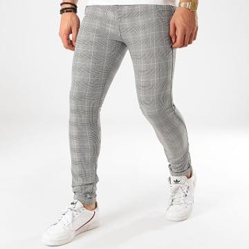 Classic Series - Pantalon Carreaux M-3307 Noir Blanc
