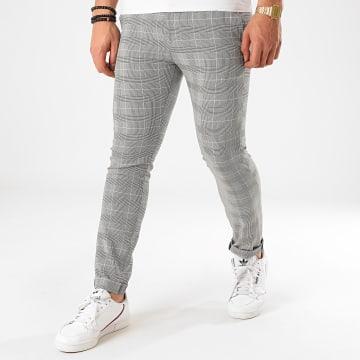 Classic Series - Pantalon Carreaux M-3309 Blanc Noir