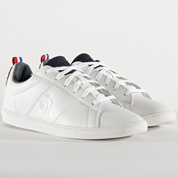 Le Coq Sportif - Baskets Femme Courtclassic 2010074 Optical White Brown