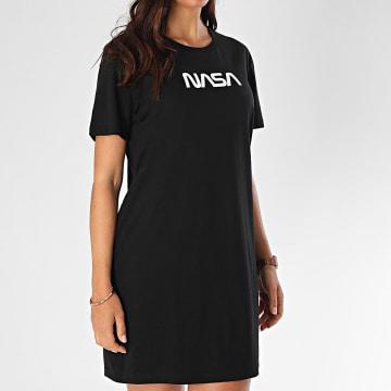 NASA - Tee Shirt Robe Femme Worm Logo Noir