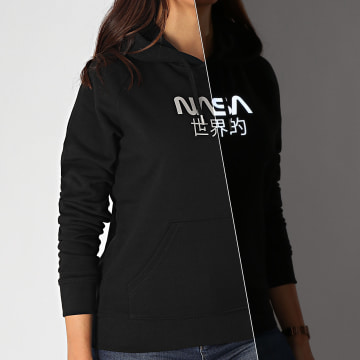 NASA - Sweat Capuche Femme Japan Reflective Noir