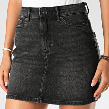 Only - Jupe Jean Femme Rose Life Gris Anthracite