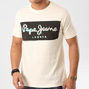Pepe Jeans - Tee Shirt Poplar PM507225 Beige
