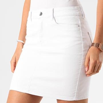 Vero Moda - Jupe Jean Femme Hot Seven Blanc