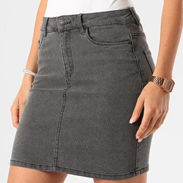 Vero Moda - Jupe Jean Femme Hot Seven Gris Anthracite