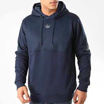 Adidas Originals - Sweat Capuche Oultine FM3890 Bleu Marine