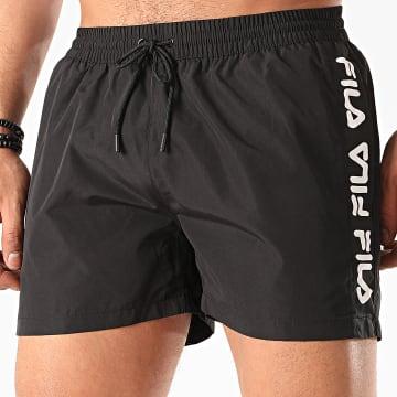 Fila - Short De Bain A Bandes Sho 687744 Noir