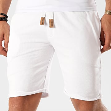 Indicode Jeans - Short Jogging Aldrich Blanc