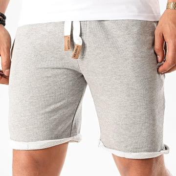 Indicode Jeans - Short Jogging Aldrich Gris Chiné