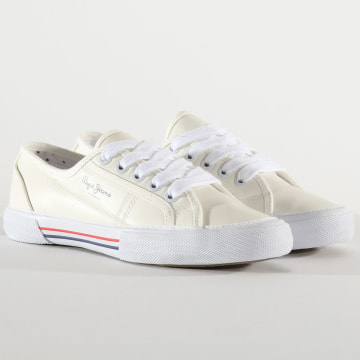 Pepe Jeans - Baskets Femme Aberlady Vega PLS30953 White