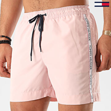 Tommy Hilfiger - Short De Bain A Bandes Medium Drawstring 1720 Rose