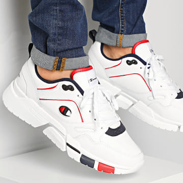 Champion - Baskets Lander Leather S21420 White Blue Red