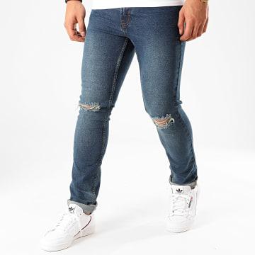 Denim Project - Jean Skinny Mister Red Knee Cut Bleu Denim