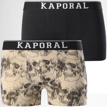 Kaporal - Lot De 2 Boxers Qeror Noir Beige