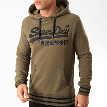 Superdry - Sweat Capuche Embroidery M2010111A Vert Kaki
