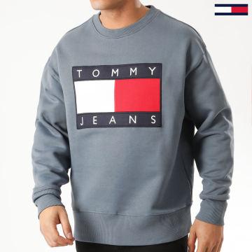 Tommy Jeans - Sweat Crewneck Tommy Flag 7201 Gris Bleu