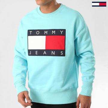 Tommy Jeans - Sweat Crewneck Tommy Flag 7201 Bleu Clair