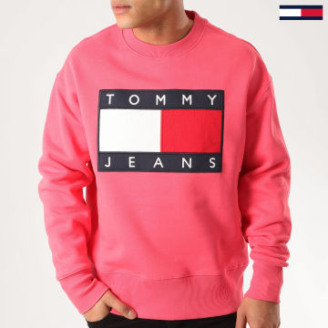 Tommy Jeans - Sweat Crewneck Tommy Flag 7201 Rose
