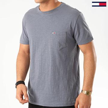 Tommy Jeans - Tee Shirt Poche 7811 Bleu Gris