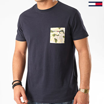 Tommy Jeans - Tee Shirt Poche Contrast Pocket 8097 Bleu Marine