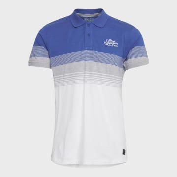 Blend - Polo Manches Courtes 20709816 Blanc Bleu