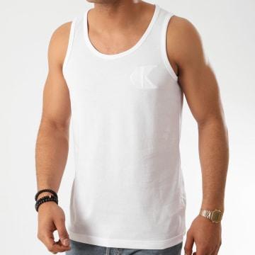 Calvin Klein - Débardeur Slim Tonal CK Embroidered 5284 Blanc