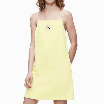 Calvin Klein - Robe Débardeur Femme Monogram 3046 Jaune Clair