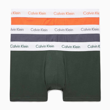 Calvin Klein - Lot De 3 Boxers 2664G Orange Gris Vert