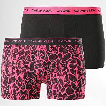 Calvin Klein - Lot De 2 Boxers 2385A Noir Rose