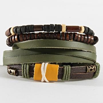 Deeluxe - Lot De 4 Bracelets Chalbi Vert Jaune