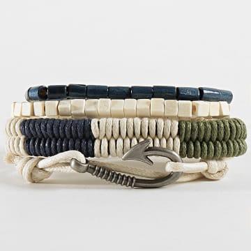 Deeluxe - Lot De 4 Bracelets Chalbi Blanc Bleu