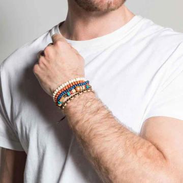 Deeluxe - Lot De 4 Bracelets Chalbi Marron Blanc
